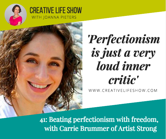 Beating perfectionism and growing a community, with Carrie Brummer of Artist Strong